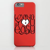 iPhone & iPod Case featuring Loving You is Easy white heart by Floating Lemons