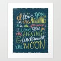 I LOVE YOU IN THE MORNING (color) Art Print