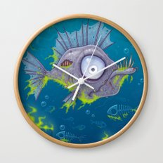 Zombie Fish Wall Clock
