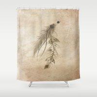 Bohemian Feather Shower Curtain
