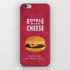 Pulp Fiction - royale with cheese iPhone & iPod Skin