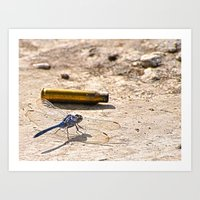 Bullet With Dragonfly Wi… Art Print