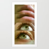 Eyes And Lips. Art Print