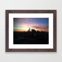 Sunset Skyline Framed Art Print