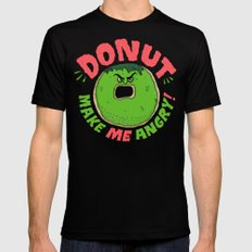 Donut Make Me Angry! Black SMALL Mens Fitted Tee