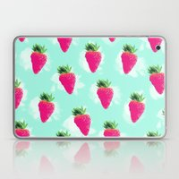 Watercolor Strawberry Laptop & iPad Skin