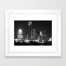 Austin - B&W Framed Art Print