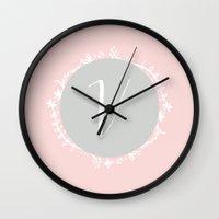 Garland Initial V - Grey Wall Clock