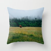 Morning Graze Throw Pillow
