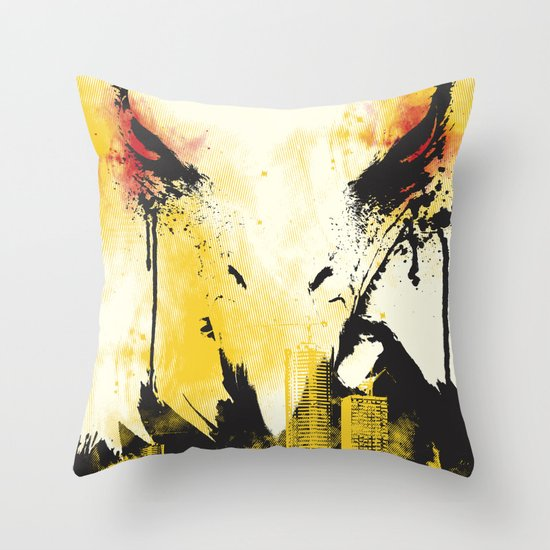 Eagle Eye Watching Throw Pillow