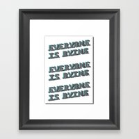 I Don't Know I Want To… Framed Art Print