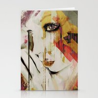 Pages Abstract Portrait Stationery Cards
