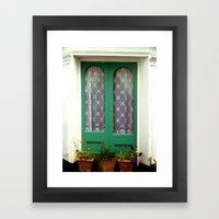 Door Framed Art Print