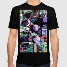 Electron Hotel Mens Fitted Tee SMALL Black