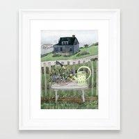 Cottage At The Sea Framed Art Print
