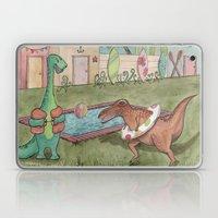 Dino Swim Party Laptop & iPad Skin