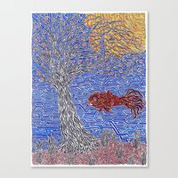 Goldfish In May  Canvas Print