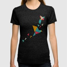 Fly Away Womens Fitted Tee Tri-Black SMALL
