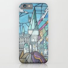 Hogwarts stained glass style iPhone 6 Slim Case