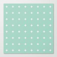 Mint Cross // Mint Plus … Canvas Print