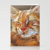 Sleeping Ginger Kitten C… Stationery Cards