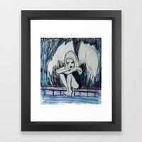 BORED ALBINO FALLEN ANGEL Framed Art Print