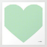 I love you this much... (blue) Art Print