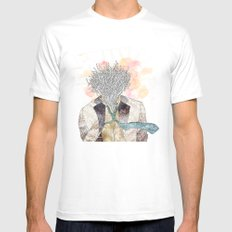 The one with head Mens Fitted Tee White SMALL