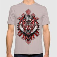 Wolf Tattoo Style Haida … Mens Fitted Tee Cinder SMALL