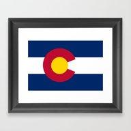 Colorado State Flag - Au… Framed Art Print