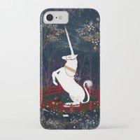 unicorn iPhone & iPod Cases featuring Unicorn by Danse de Lune