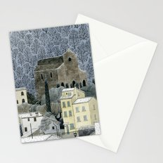 Winter Town Stationery Cards