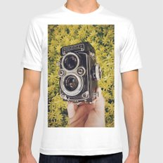 Rolleiflex White Mens Fitted Tee SMALL