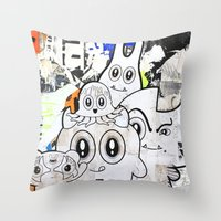 Sugar Monsters Throw Pillow