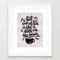 Hot Tea Framed Art Print