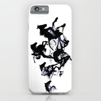 horses iPhone & iPod Cases featuring Black horses by Robert Farkas