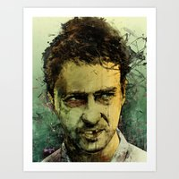 monster Art Prints featuring Schizo - Edward Norton by Fresh Doodle - JP Valderrama