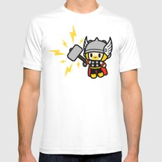Thor QiQi - hammer hammer hammer.... Mens Fitted Tee White SMALL