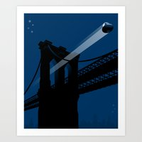 A UFO Flies In Brooklyn Art Print