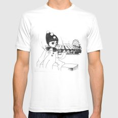Pierrot the clown Mens Fitted Tee White SMALL