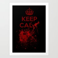 keep calm Art Prints featuring Keep calm? by Eveline