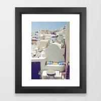 Santorini Lounge Framed Art Print