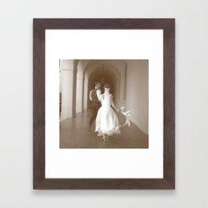 Runaway Wedding Framed Art Print