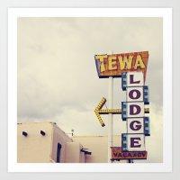 Tewa Lodge Art Print