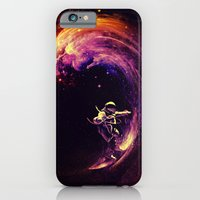 iPhone Cases featuring Space Surfing by nicebleed