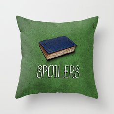 Doctor Who: Spoilers Throw Pillow