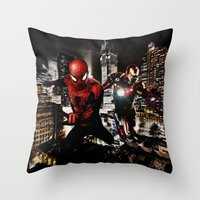 Dynamic Duo Throw Pillow