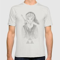 The Hero of Time Mens Fitted Tee Silver SMALL