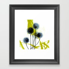 blue dandelion on abstract background Framed Art Print