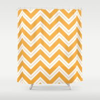 Yellow Chevron Shower Curtain